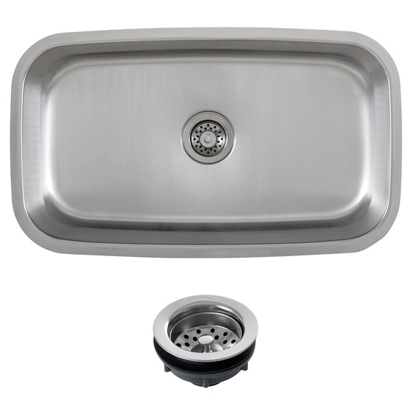 ... 31.5-inch Stainless Steel 18 Gauge Undermount Single Bowl Kitchen Sink