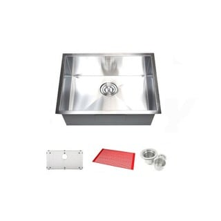 26-inch Single Bowl Undermount Zero Radius Kitchen Bar Island Sink