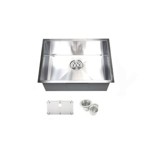 23-inch Single Bowl Undermount Zero Radius Kitchen Bar Island Sink