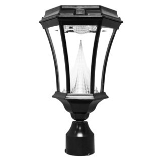 Gama Sonic Victorian Black Solar LED Light
