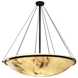 Justice Design Group LumenAria 8-light Ring Dark Bronze Pendant