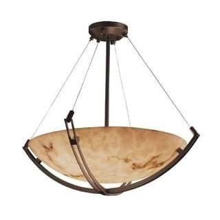 Justice Design Group LumenAria 3-light Crossbar Dark Bronze Pendant