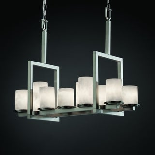 Dakota 10-Light Bridge Nickel Chandelier