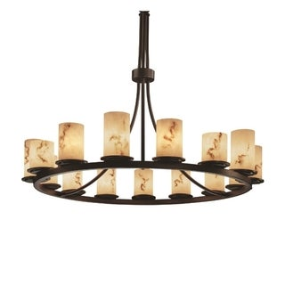 LumenAria 15-Light 1-Tier Dark Bronze Chandelier