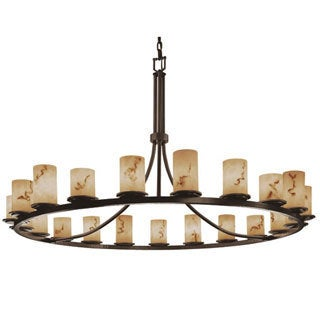 Justice Design Group LumenAria 21-light 1-Tier Dark Bronze Chandelier
