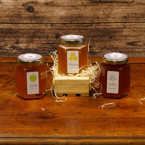 The Lavender Apple Gourmet Lavender Honey and Jelly Gift Set