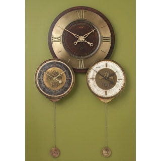 Lightly Distressed Mahogany Antique-style Wall Clock