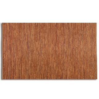 Everit Rust Rescued Leather Rug (8' x 10')