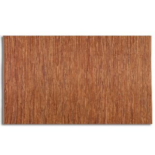 Everit Rust Rescued Leather Rug (5' x 8')