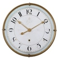 Torriana Antiqued Goldtone and Ivory Wall Clock