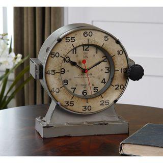 Uttermost Marine Distressed Grey Nautical Mantle Clock