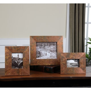 Uttermost Ambrosia Oxidized Copper Photo Frames (Set of 3)
