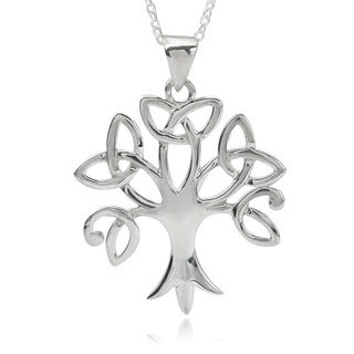 Tressa Collection Sterling Silver Trinity Tree Pendant Necklace