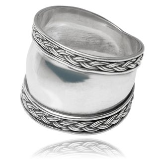 Tressa Collection Sterling Silver Bali Design Ring