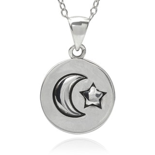 Tressa Collection Sterling Silver Love to the Moon and Back Pendant Necklace