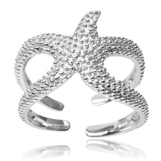 Tressa Collection Sterling Silver Starfish Ring