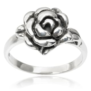 Journee Collection Sterling Silver Rose Ring