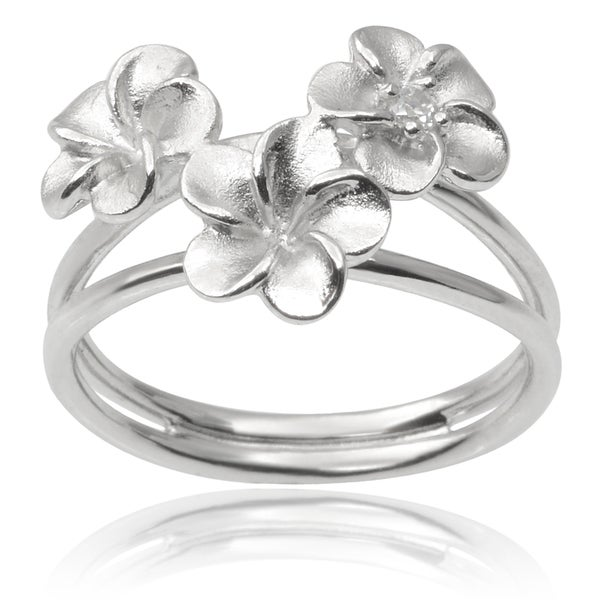 sterling silver flower rings silver rings