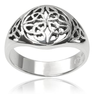Journee Collection Sterling Silver Celtic Design Ring