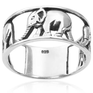Tressa Collection Sterling Silver Elephant Ring