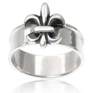 Journee Collection Sterling Silver Fleur-di-lis Ring