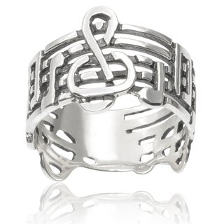 Tressa Collection Sterling Silver Music Notes Ring