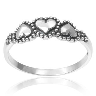 Tressa Collection Sterling Silver Heart Ring