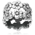Tressa Collection Sterling Silver Flower Band (14MM)
