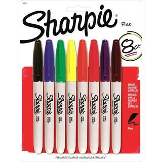 Sharpie Fine Point Permanent Markers with Assorted Ink