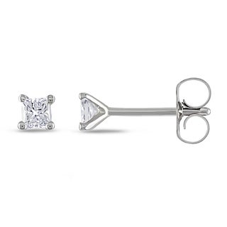 Miadora 18k White Gold 1/4ct TDW Diamond Stud Earrings (G-H, VS1-VS2)