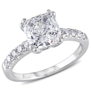 Miadora 14k White Gold 1 3/4ct TDW Certified Diamond Engagement Ring (F, VS2) (GIA)