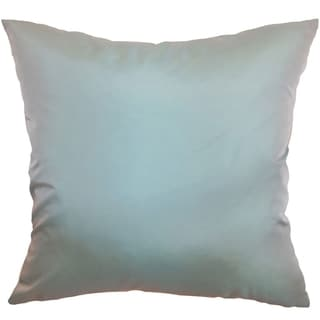 Quinta Aqua Solid 18-inch Throw Pillow