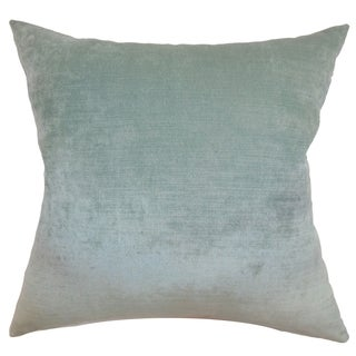 Haye Aqua Solid 18-inch Throw Pillow