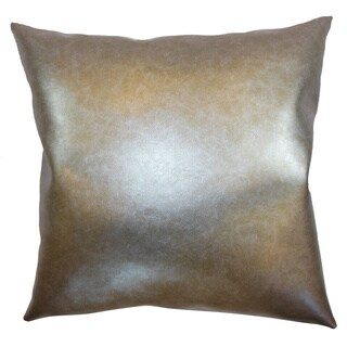 Kamden Metallic Plain 18-inch Throw Pillow