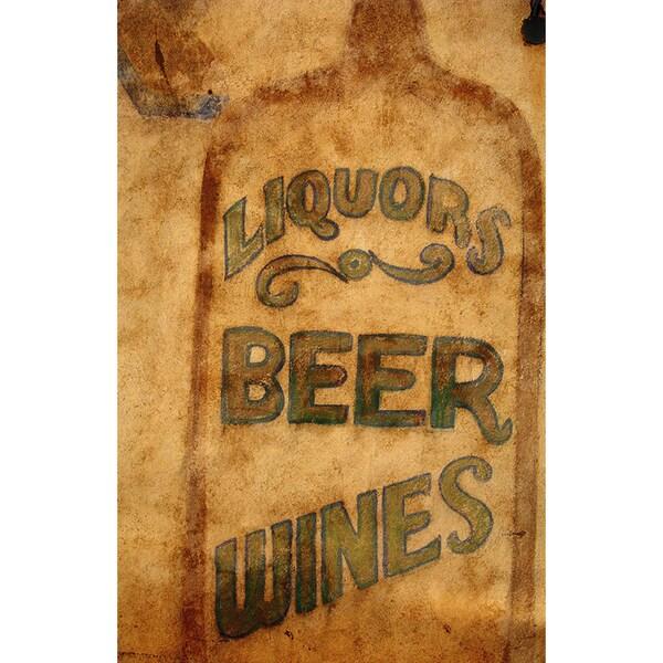 Bar Beer Sign' Wall Art Photography Canvas Print