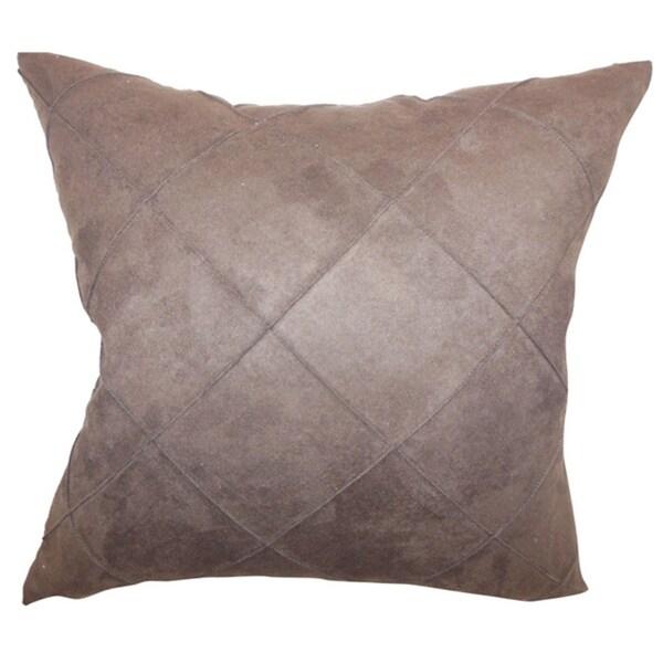 Nesbitt Brown Solid 18-inch Throw Pillow