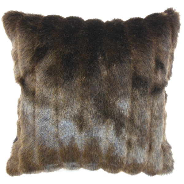 Eilonwy Mink Brown, Black or Cream Feather and Down Filled Throw Pillow