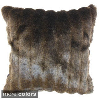 Eilonwy Mink 18-inch Throw Pillow in Brown, Black or Cream