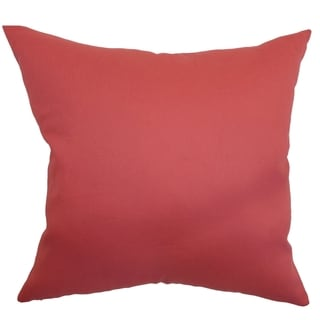 Giula Red Solid 18-inch Throw Pillow