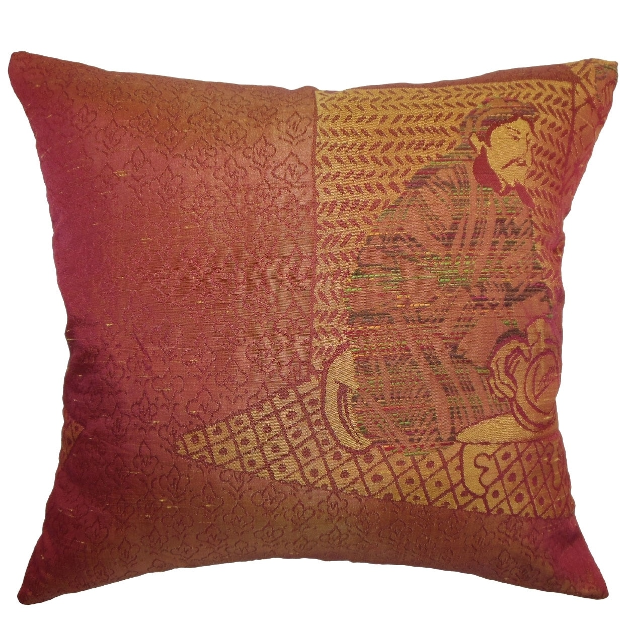 PILLOW COLLECTION INC Harb Copper Traditional 18-inch Throw Pillow