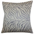 Helaine Slate Zebra Print Feather and Down Filled 18-inch Throw Pillow