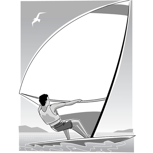 Windsurfer Mortice' Gallery-Wrapped Canvas Wall Art