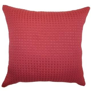 Kameron Claret Plain Feathered Filled 18-inch Throw Pillow