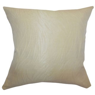 Nichola Sandstone Plain Feathered Filled 18-inch Throw Pillow