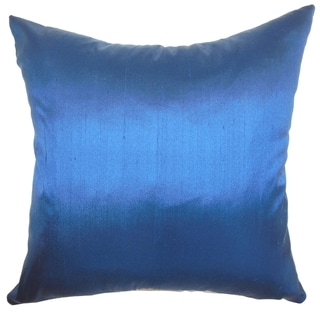 Fanceen Indigo Plain Feathered Filled 18-inch Throw Pillow