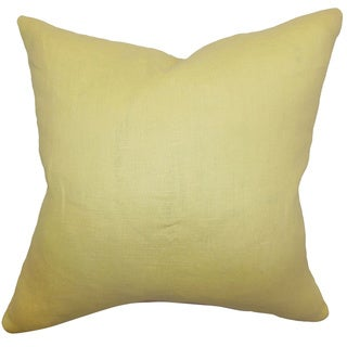 Idalya Canary Plain Feathered Filled 18-inch Throw Pillow