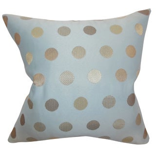 Calynda Tiffany Dots Feathered Filled 18-inch Throw Pillow