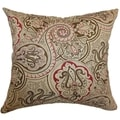 Xandraya Cherry Paisley Feathered Filled 18-inch Throw Pillow