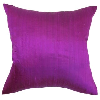 Ekati Violet Solid 18-inch Down Filled Throw Pillow