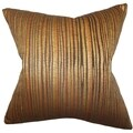 Litzy Stripes Gold 18-inch Down Filled Throw Pillow